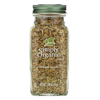 Купить Simply Organic Семена фенхеля, 1, 90 унции (54 г)