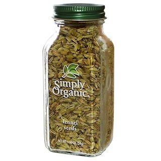 Simply Organic, Fennel Seeds, 1.90 oz (54 g)