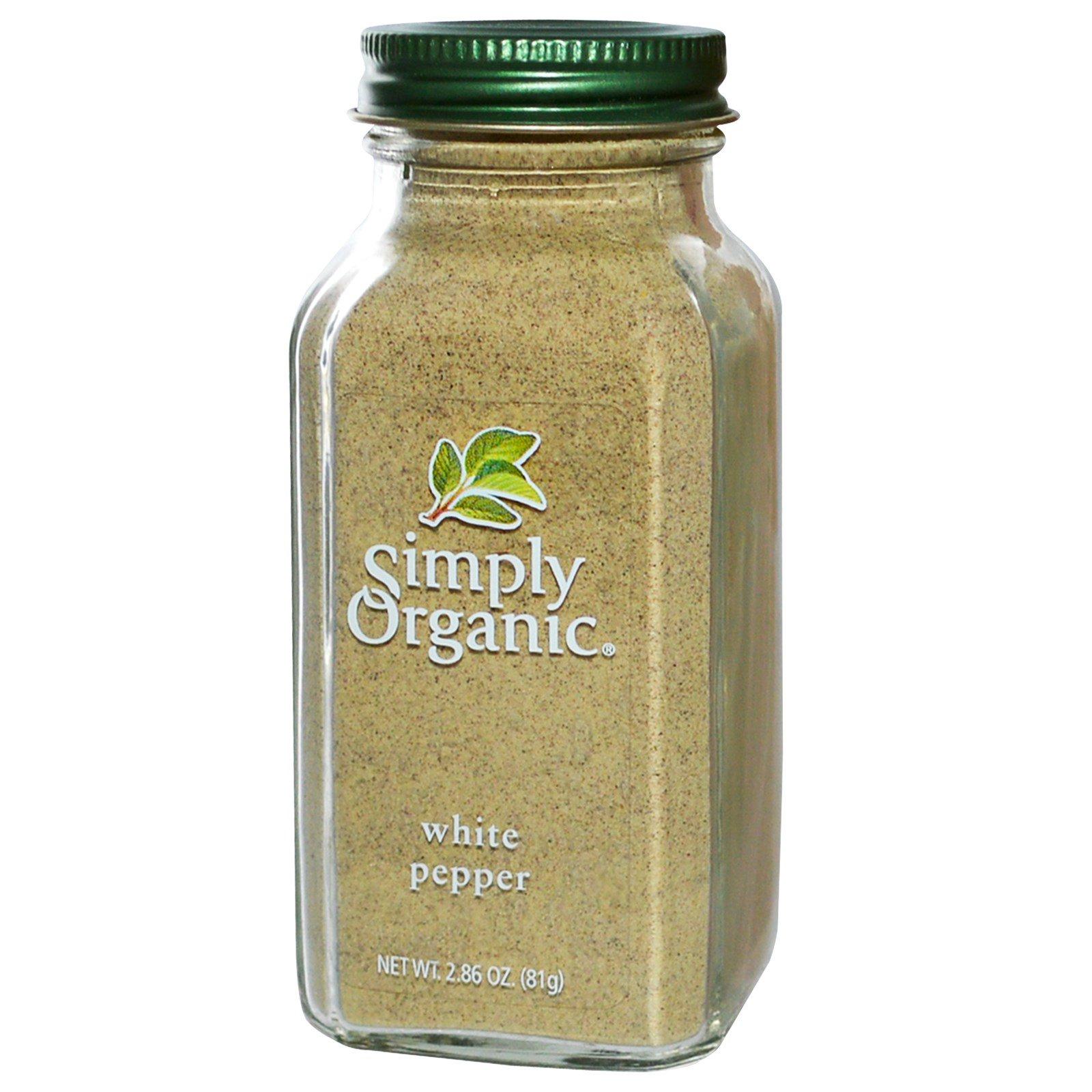 Simply Organic, Белый перец, 2.86 унции (81 г)