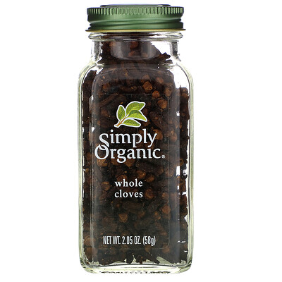 Simply Organic Целая гвоздика, 2,05 унции (58 г)