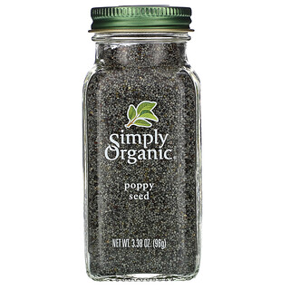 Simply Organic, Poppy Seed, 3.38 oz (96 g)
