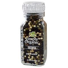 Simply Organic, Mix de granos de pimienta Get Crackin, 3.00 oz (85 g)