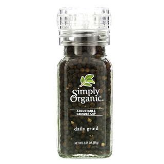 Simply Organic, Moenda Diária, Pimenta Preta em Grãos, 2,65 oz (75 g)