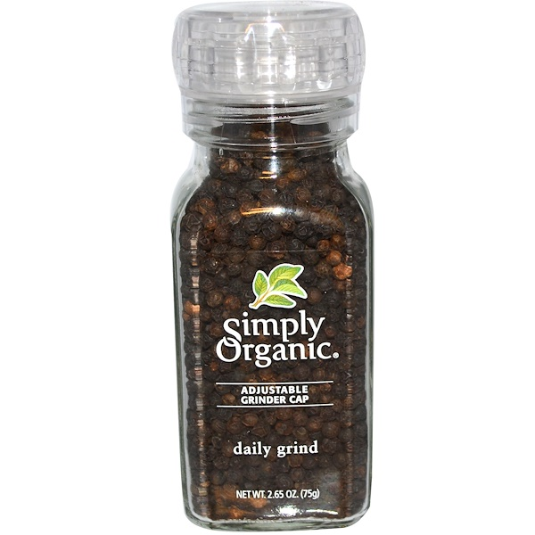 Simply Organic, Daily Grind, Black Peppercorn, 2.65 oz (75 g)