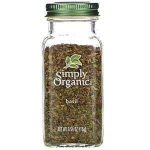 Симпли Органик, Basil, 0.54 oz (15 g) отзывы