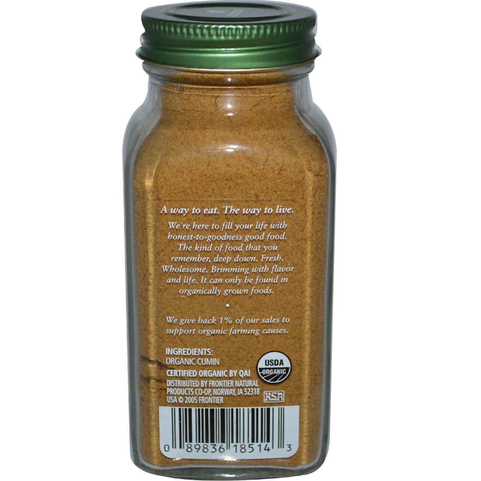 Simply Organic, Тмин, 2.31 унций (65 г)