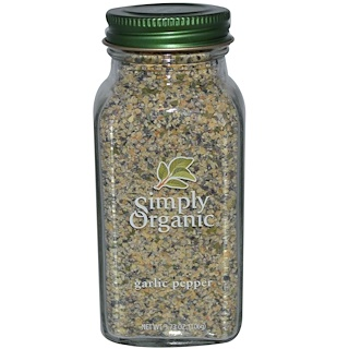 Simply Organic, Garlic Pepper, 3.73 oz (106 g)