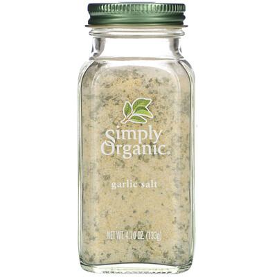 Купить Simply Organic Чесночная соль, 4, 7 унции (133 г)