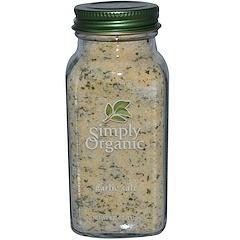 Simply Organic, Sel d'ail, 4,70 oz (133 g)