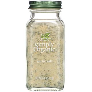 Simply Organic, Garlic Salt, 4.70 oz (133 g)