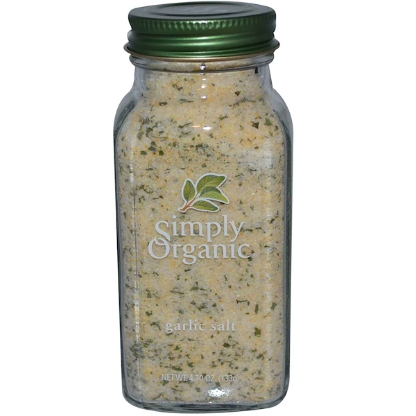 Simply Organic, Garlic Salt, 4.70 oz (133 g)