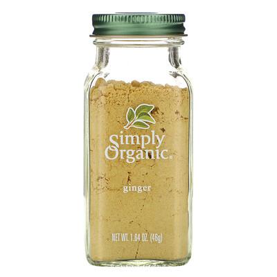 Simply Organic Имбирь, 1,64 унции (46 г)