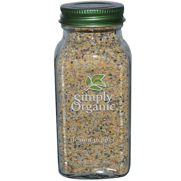 Simply Organic, Lemon Pepper, 3.17 oz (90 g)