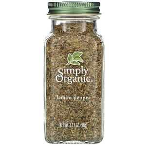 Симпли Органик, Lemon Pepper, 3.17 oz (90 g) отзывы покупателей
