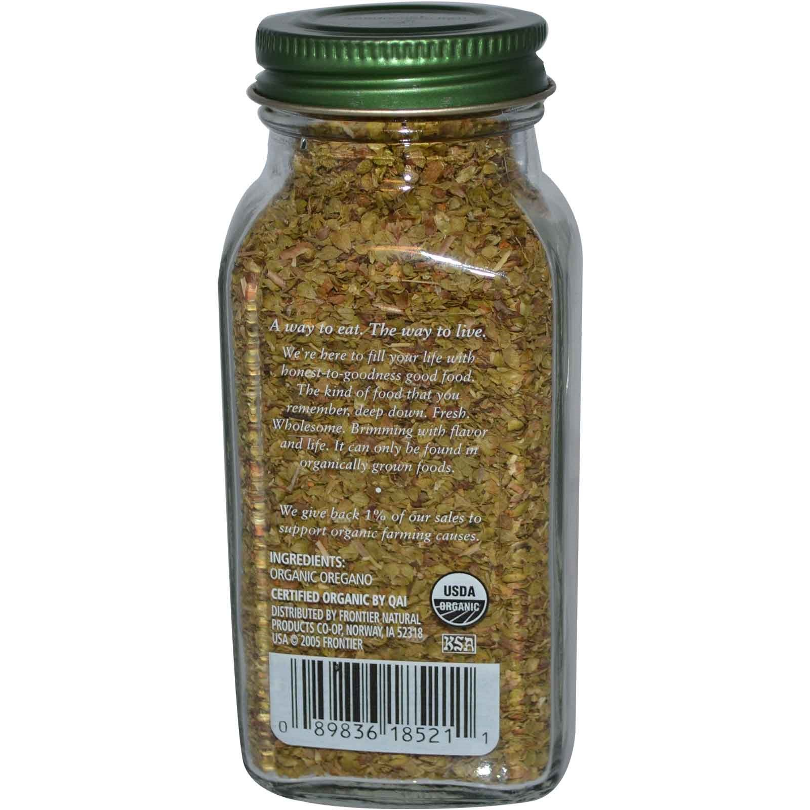 Simply Organic, Орегано, 0.75 унций (21 г)