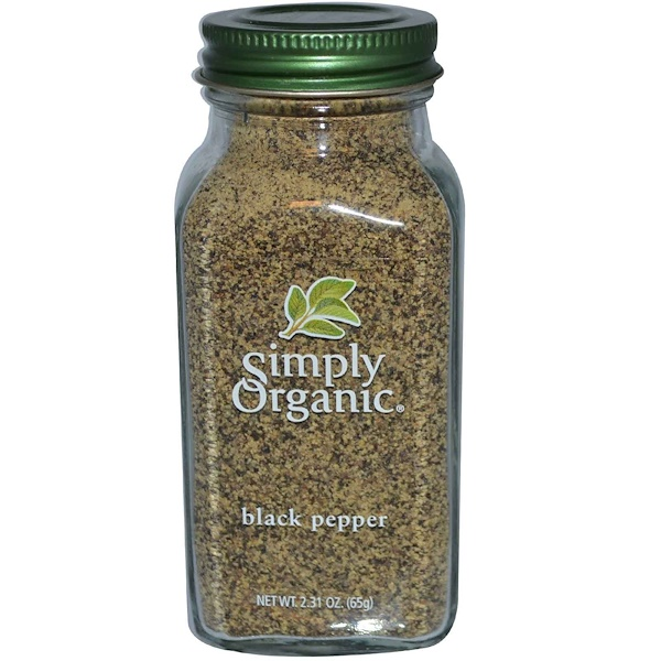 Simply Organic, Black Pepper, 2.31 oz (65 g)