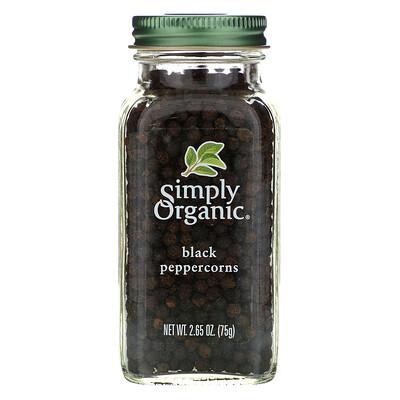Simply Organic Зерна черного перца, 2.65 унций (75 г)