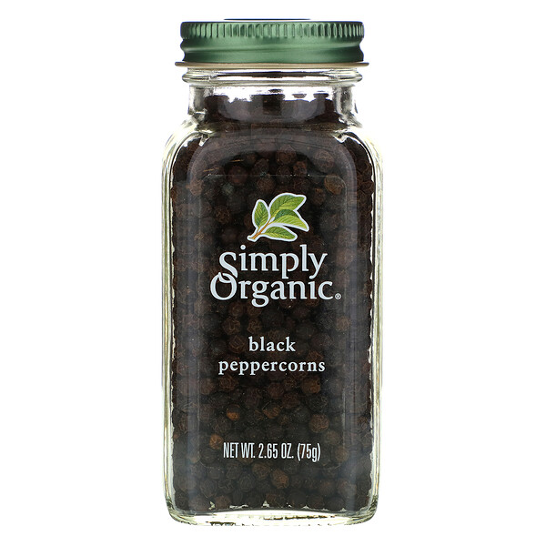Black Peppercorns, 2.65 oz (75 g)