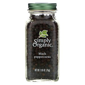 Симпли Органик, Black Peppercorns, 2.65 oz (75 g) отзывы покупателей