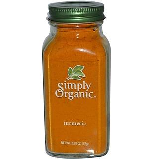 Simply Organic, Куркума, 2,38 унции (67 г)