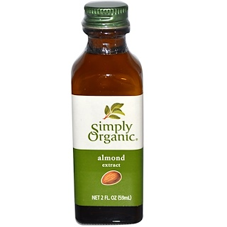 Simply Organic, Almond Extract, 2 fl oz (59 ml)
