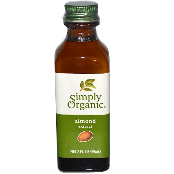 Simply Organic, Экстракт миндаля, 2 жидк. унц. (59 мл)