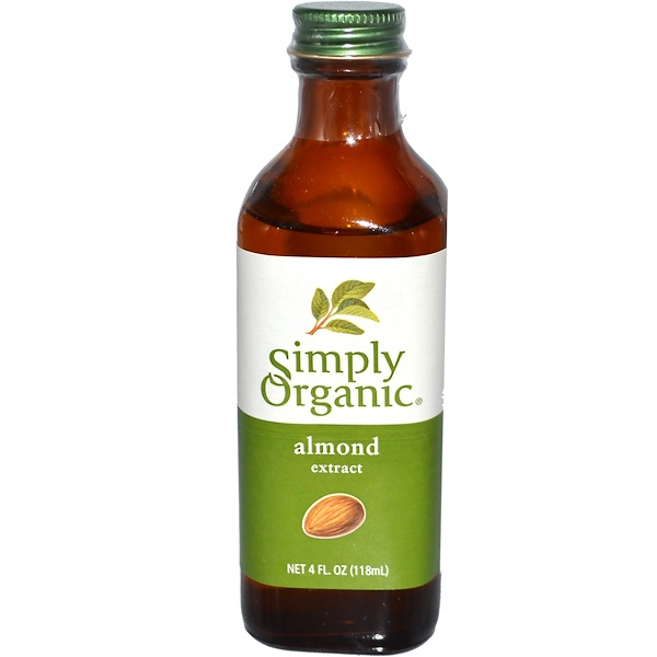 Simply Organic, Almond Extract, 4 fl oz (118 ml)