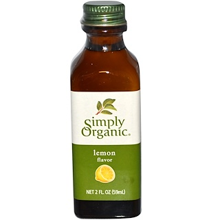 Simply Organic, Lemon Flavor, 2 fl oz (59 ml)