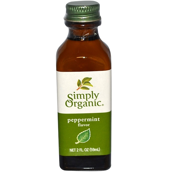Simply Organic, Peppermint Flavor, 2 fl oz (59 ml)
