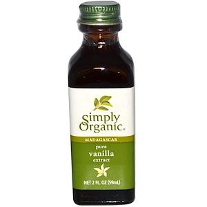 Simply Organic, Мадагаскарский чистый экстракт ванили, выращен на ферме, 2 жидких унции (59 мл)