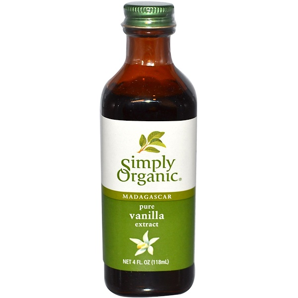 Simply Organic, Madagascar Pure Vanilla Extract, Farm Grown , 4 fl oz (118 ml)
