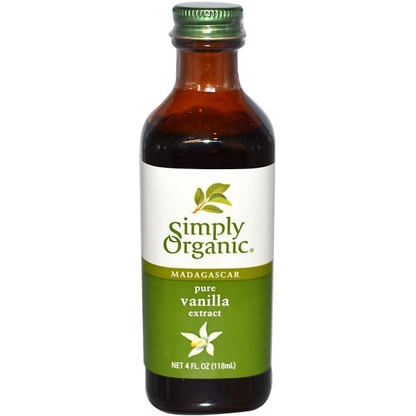 Simply Organic, 馬達加斯加香草精,農場種植,4液體盎司(118毫升)