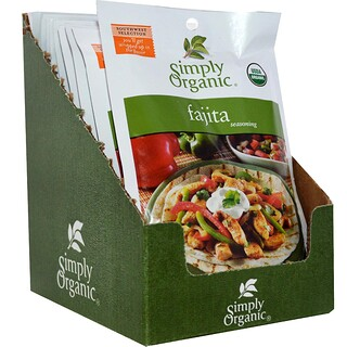 Simply Organic, Fajita Seasoning, 12 Packets, 1.00 oz (28 g) Each
