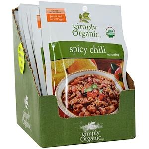 Симпли Органик, Spicy Chili Seasoning, 12 Packets, 1.00 oz (28 g) Each отзывы