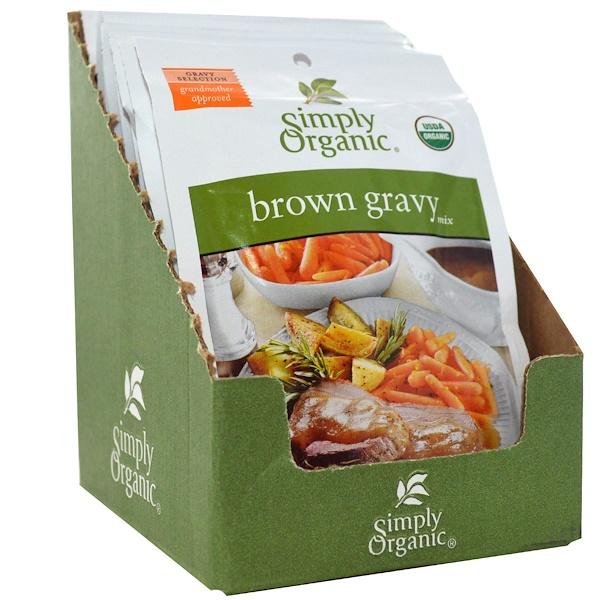 Simply Organic, Смесь для приготовления коричневого соуса, 12 пакетиков, 1 унция (28 г) в каждом (Discontinued Item)
