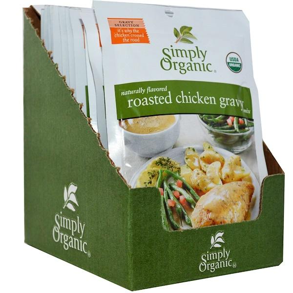 Simply Organic, Смесь для подливки жареной курицы, 12 пакетиков, по 0,85 унции (24 г) каждый (Discontinued Item)