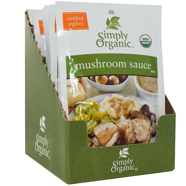 Simply Organic, Смесь для грибного соуса, 12 пакетиков, по 0,85 унции (24 г) каждый (Discontinued Item)