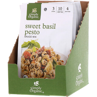 Simply Organic, Sweet Basil Pesto Sauce Mix, 12 Packets, 0.53 oz (15 g) Each