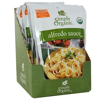 Simply Organic, Набор специй для соуса Альфредо, 12 пакетиков, 42 г каждый