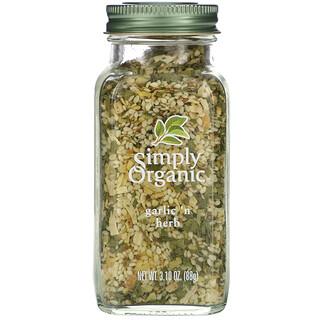 Simply Organic, чеснок и травы, 88г (3,10унции)