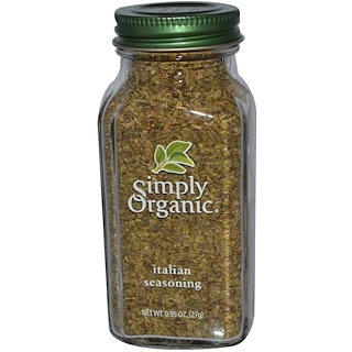 Simply Organic, Tempero italiano, 0.95 oz (27 g)