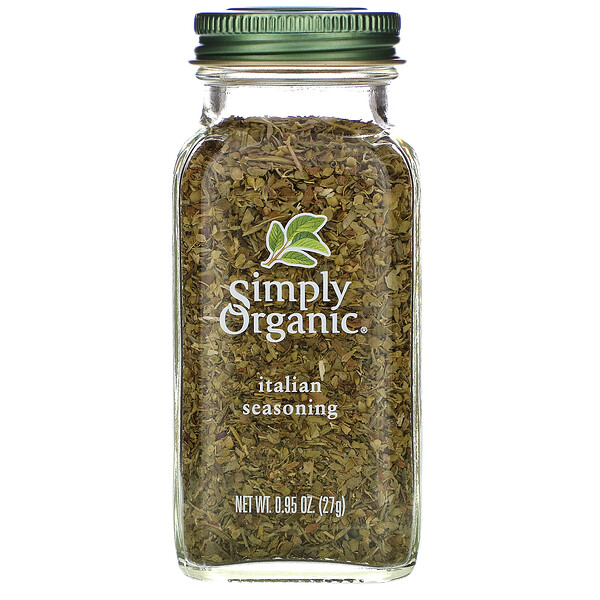 Simply Organic, Italian Seasoning, 0.95 oz (27 g)