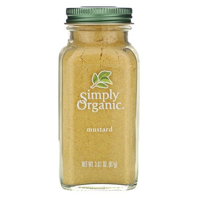 Simply Organic Горчица, 3.07 унций (87 г)