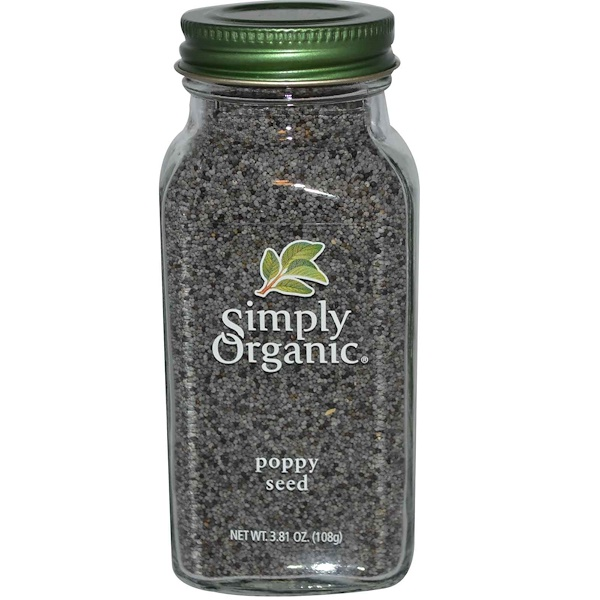 Simply Organic, Poppy Seed, 3.81 oz (108 g)