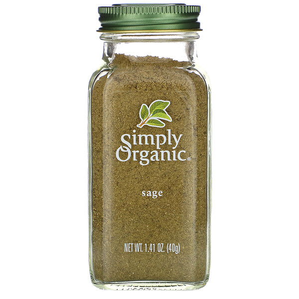 Simply Organic, Sage, 1.41 oz (40 g) (Discontinued Item)