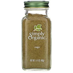 Симпли Органик, Sage, 1.41 oz (40 g) отзывы покупателей