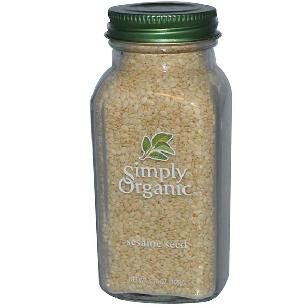 Simply Organic, Кунжутное семя, 3,7 унции (105 г)