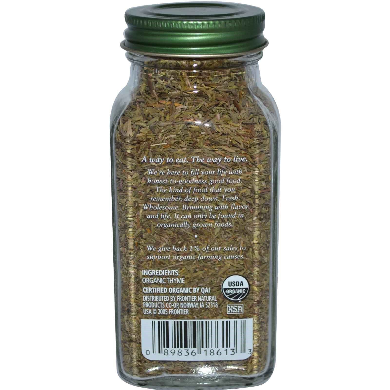 Simply Organic, Тимьян, 0,78 унции (22 г)