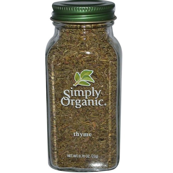 Simply Organic, Tomillo, 0,78 oz (22 g)