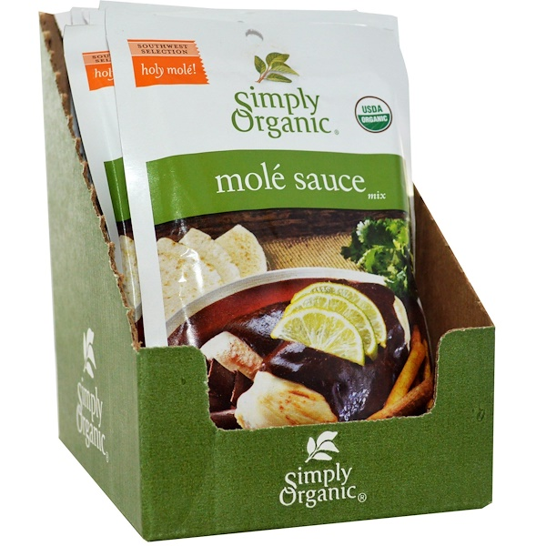 Simply Organic, Mole Sauce Mix, 12 Packets, 1.13 oz (32 g) Each (Discontinued Item)